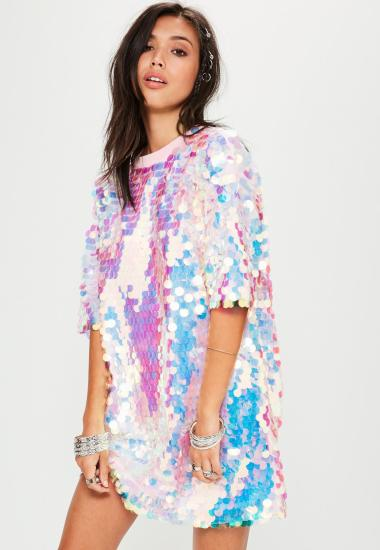 robe-t-shirt-rose--sequins